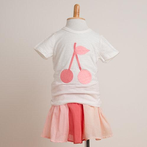 サクランボ刺繍Tシャツ
