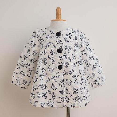 花柄キルティングジャケット