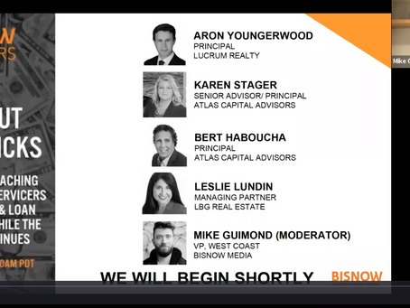 "[Recorded]Bisnow & Lucrum Realty webinar on ""Loan Workout Tips & Tricks"""