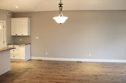 Open concept dining room, living room