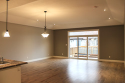 Open concept living room/dining room