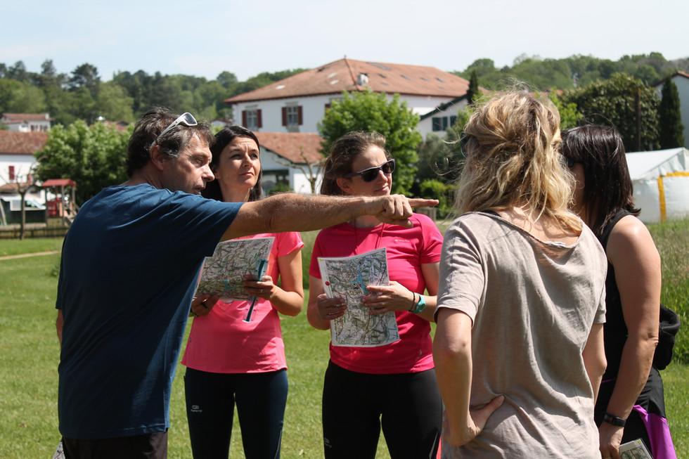 Pays basque découverte, course d'orientation St pée sur nivelle