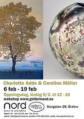 A4 vernissageblad Charlotte Adde Carolin