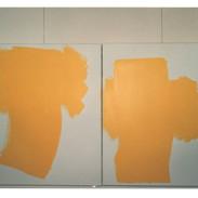 """""""R 7 (Diptyque Jaune)"""", 1995, 46x76,3 cm"""