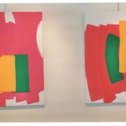 """Vue 2 toiles de la série """"Painting"""", galerie PMD, Paris, 1995"""