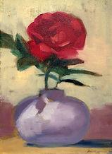 Flower + Vase oil painting