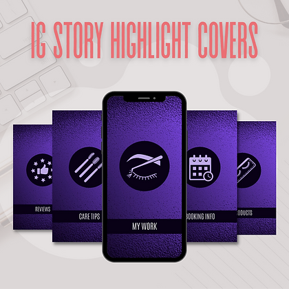 IG Story Highlight Covers (Set of 5)