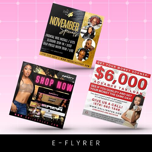 eFlyer design - $40