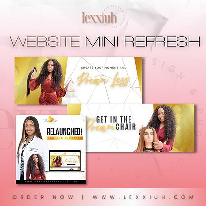 Website Mini Refresh