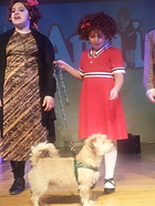 dog training, Annie, movie dog, nyc dog training, kids and dogs, dog actor, on stage, leash and learn
