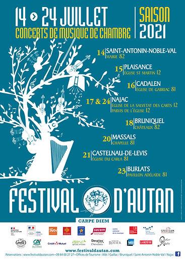 Affiche Festival d'Autan 2021