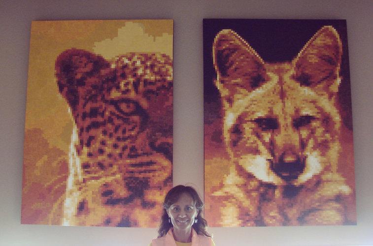 pixel art painting of wildlife