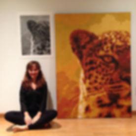 pixel art jaguar painting