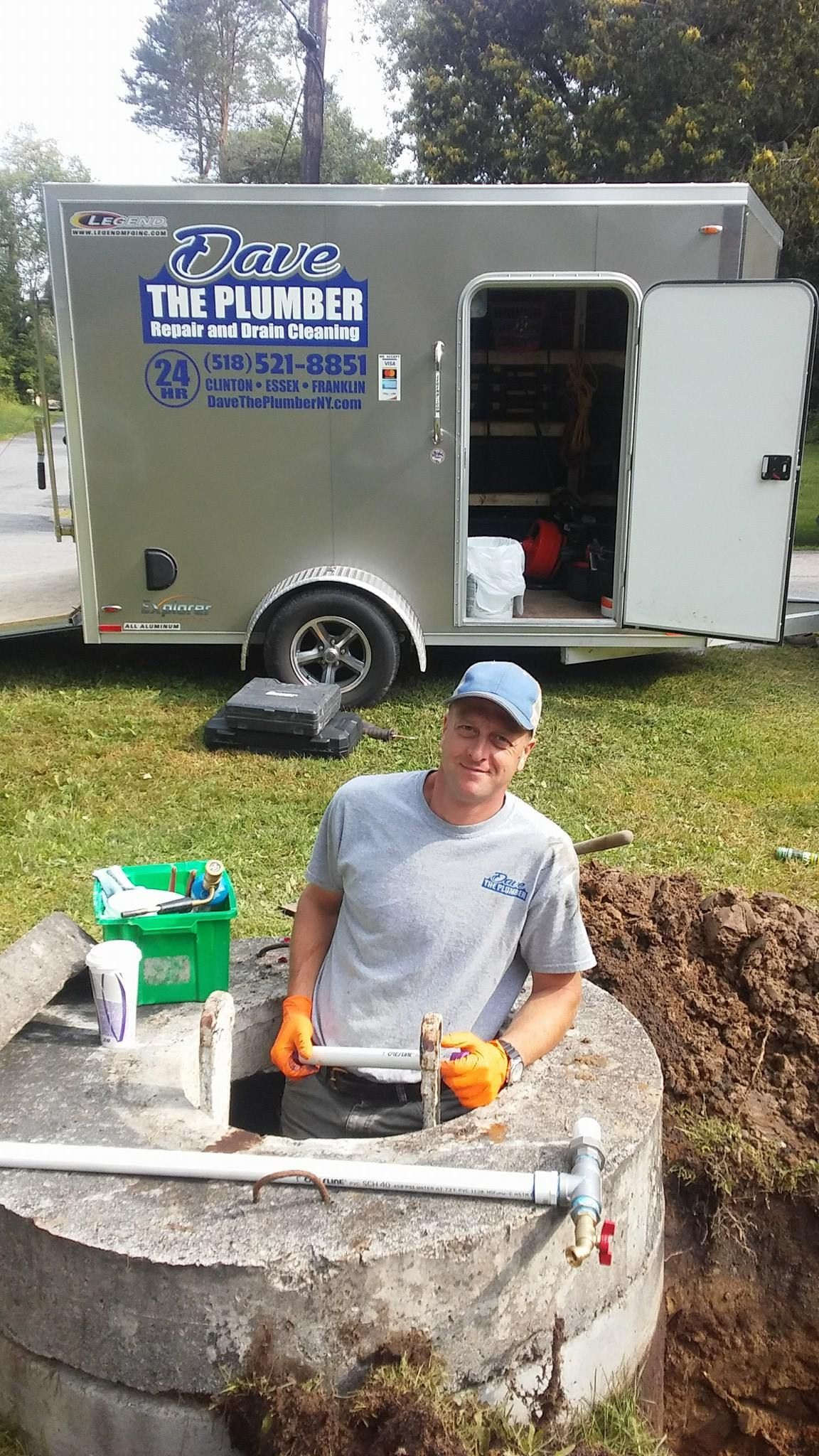 Dave The Plumber working on well pump