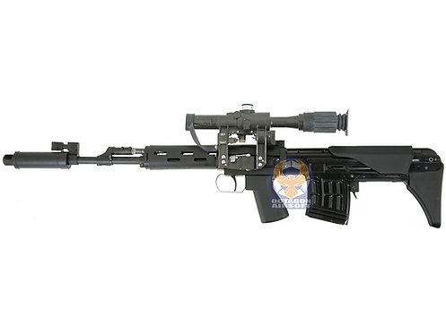 Bear Paw OTS-03 SVU GBB Rifle Aluminium Version with RS PSO-1 M2 Scope Set