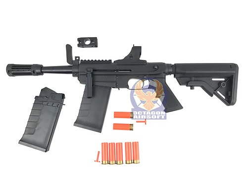 PPS XM26 Shell Ejecting Gas Shotgun with 5pcs Shell Set and Extra Mag