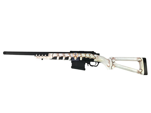 ARES AS01 Amoeba Sniper Rifle with Skeleton Hand Carved Wood stock
