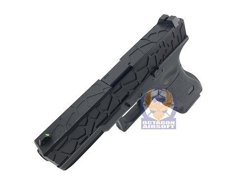 Army Metal Slide R17-1 Halfshell Style G17 GBB Pistol (BK)