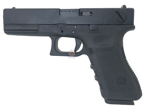 WE Double Barrel G18C Semi / Auto GBB Pistol (BK)