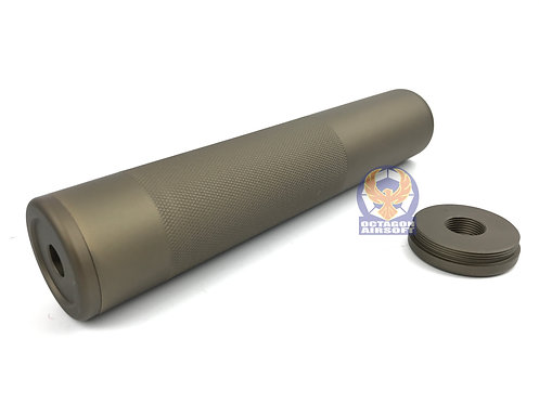 Silencer with anti-skid chequer for 14mm CCW / CW (DE)