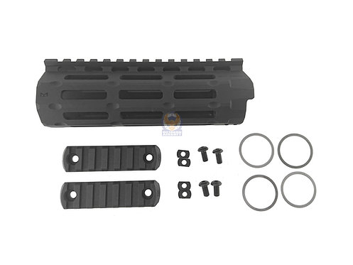 APS Evolution Tech 6.0 M-LOK Tactical Handguard for M4 AEG (6 inch, BK)