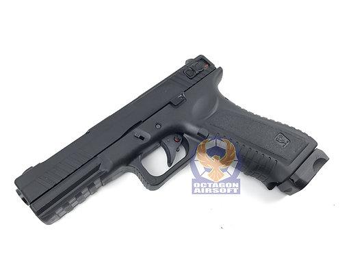 APS Black Hornet Semi / Full Auto CO2 Pistol (BK)