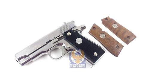 Tanaka .380 Government Stainless Model GBB with wood grip set