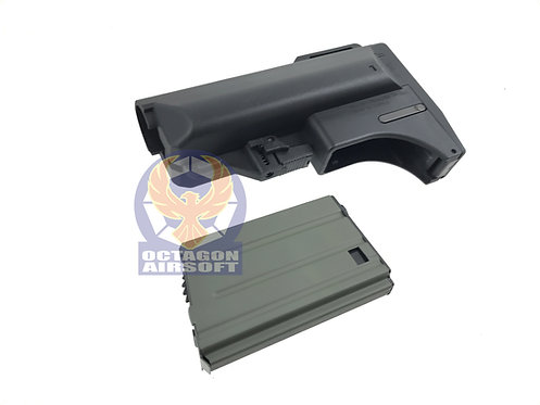SL-0053BK-CA10 M4 Buttstock with build-in mag carrier and CA 10 round mag
