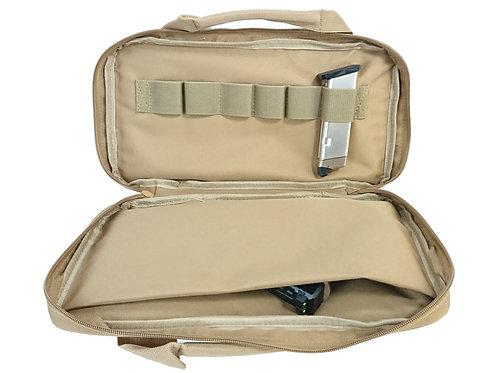 FLW Handgun Pistol Bag Soft Case - Medium - TAN