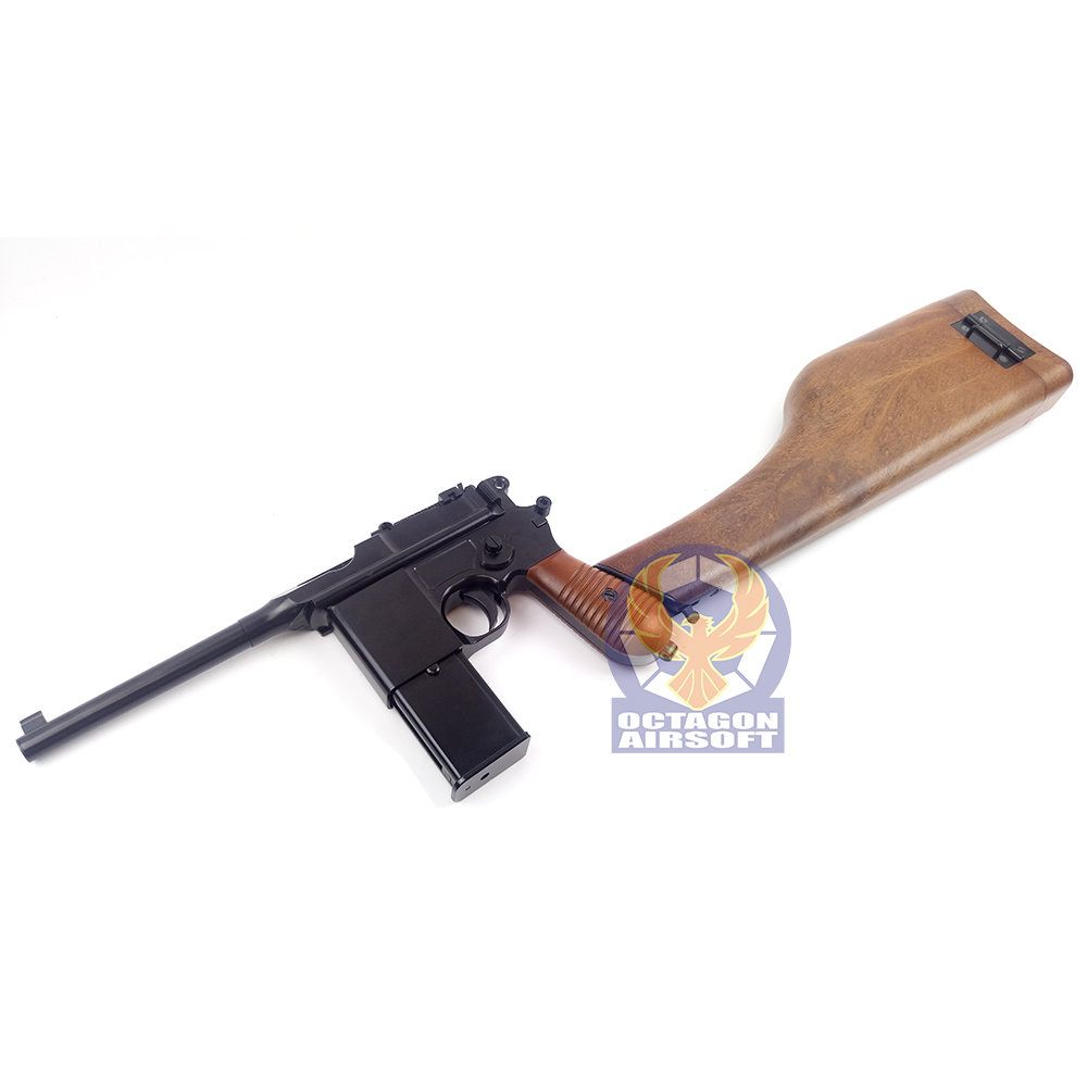 WE M712 Semi / Auto GBB Pistol No Marking Version (BK)