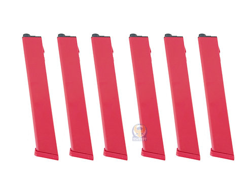 Classic Army P535P-6 Nemesis X9 / TP9  120rds 6 Pack Mid-Cap Magazine RED