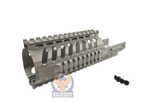 Helix Axem CNC Machined 9 inch KV Rail RAS for KWA VECTOR GBB (Tan)