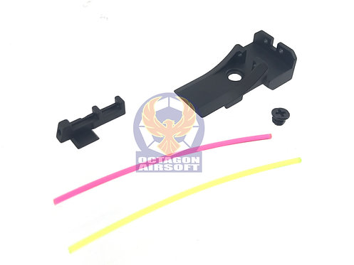 AIP005-TM51 AIP Alumimun Front and Rear Sight ( Fiber) Version.2 For TM 5.1