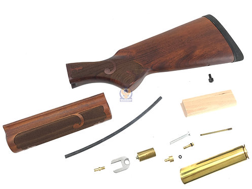 CAW / MULE Wood Stock Old Type A Model for Marui / Golden Eagle M870