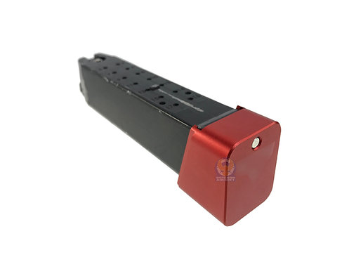 FLW TT Style Marking Metal Mag Base For Marui System G Series Red