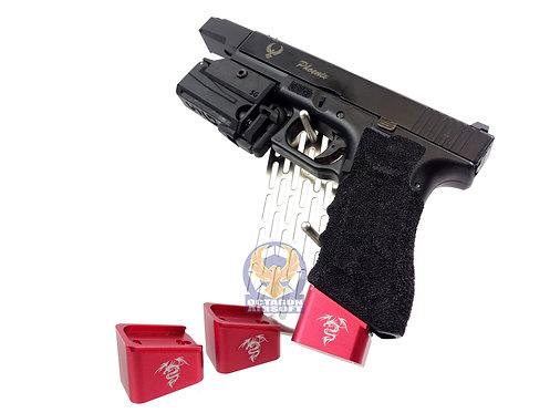 FLW Custom Magazine Base 3 pcs set For Marui G Series GBB (Dragon)