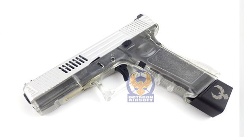 FCW LWOLF Style G17 GBB Pistols (Aluminium  Slide with Transparent Frame)