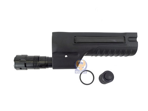 G&P Tactical LED Flashlight ForeArms for Marui M870 (BK).