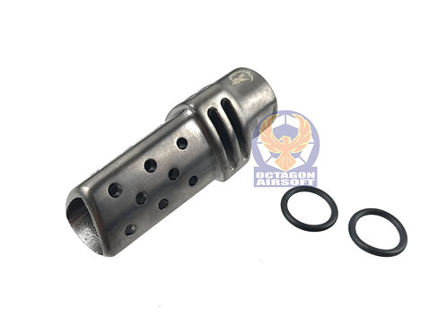 Helix Axem Stainless Steel Titan FlashHider 14mm CCW (BK)