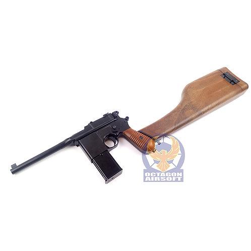 WE M712 Semi / Auto GBB Pistol Full Marking Version (BK)