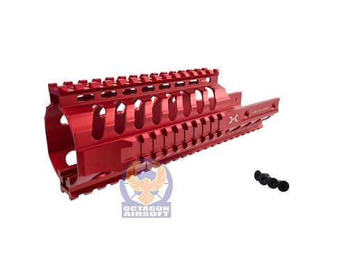 Helix Axem CNC Machined 9 inch KV Rail RAS for KWA VECTOR GBB (Red)