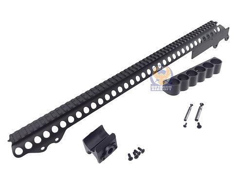 Golden Eagle MC-84 Receiver Rail RAS for M870 Gas Shotgun Series (Full Package)