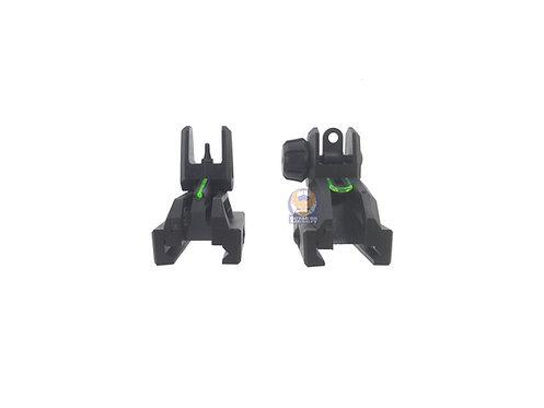 SRC Polymer Flip Up Sight with Fiber Sight Set (Black)