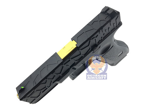 FLW R17-1 Halfshell Style G17 GBBP with Golden Outer Barrel (BK)