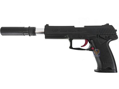 OCTOPUS USP MK23 7-8mm Aircocking Shell Eject Gel Ball Blaster (Black)