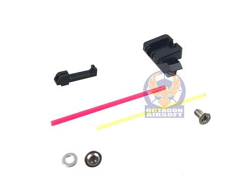 AIP005-MG17 AIP Alumimun Sight Set (Fiber Optic) for Marui G17
