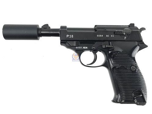 Western Arms P38 w/ silencer BK NBB Pistol