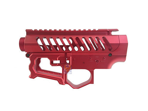 APS EMG F1 BDR-15-3G Full CNC Metal Receiver Set for M4 AEG (Red)