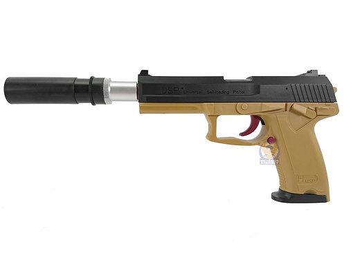 OCTOPUS USP MK23 7-8mm Aircocking Shell Eject Gel Ball Blaster (DE)