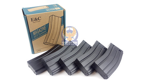 E&C 30 Round M4 Magazine 5 pcs box set (BK)